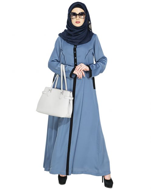 Cornflower Blue Casual Abaya