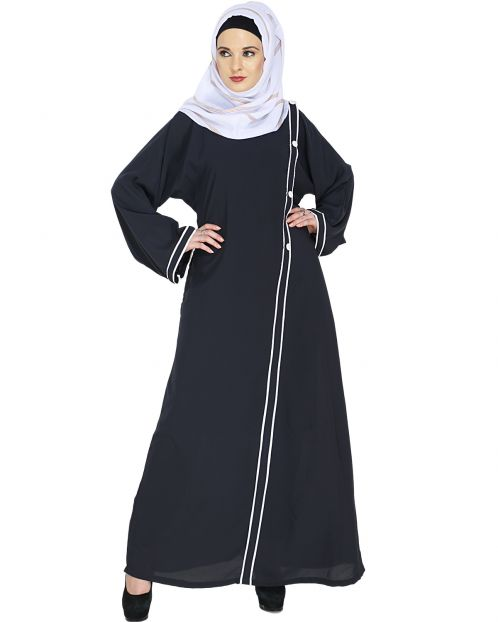 Charcoal Grey Casual Abaya
