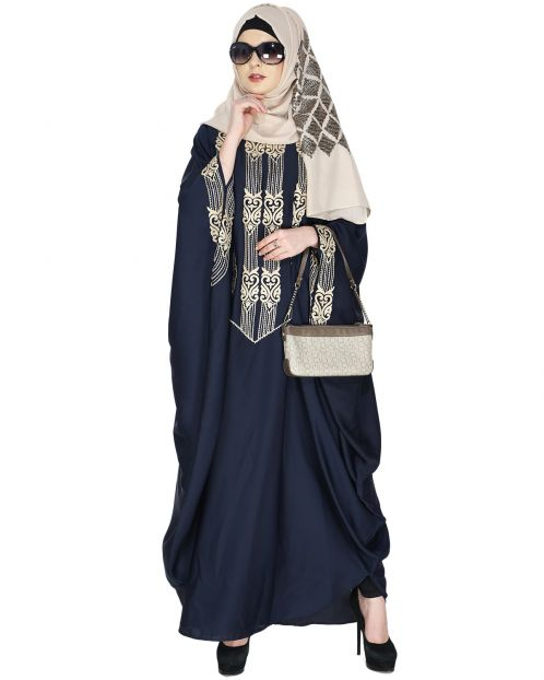 Majestic Midnight Blue Formal Kaftan