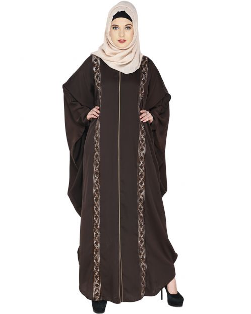 Ravishing Dark Brown Kaftan
