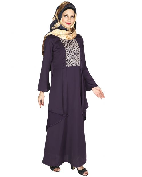 Newfangled Purple Abaya