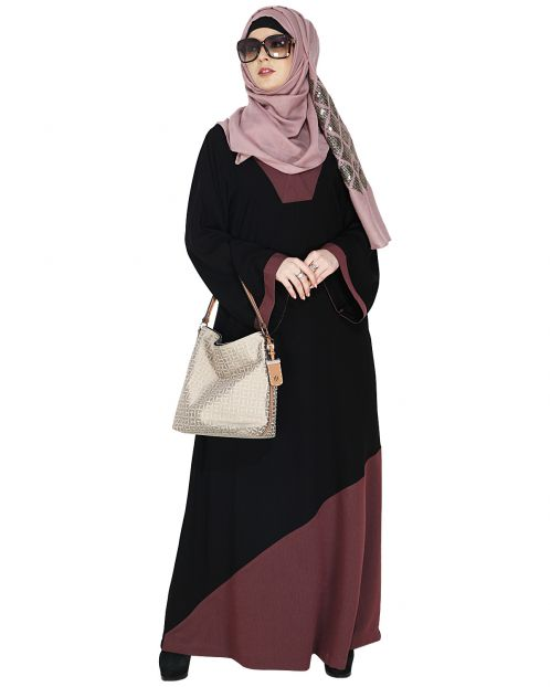 Casual Purple Highlighted Abaya