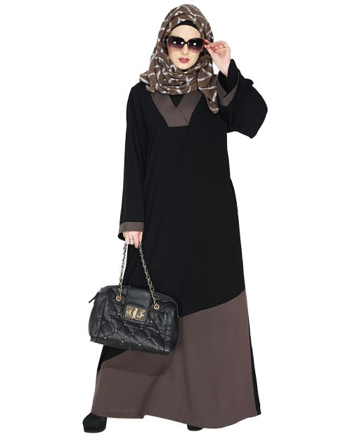 Casual Brown Highlighted Abaya