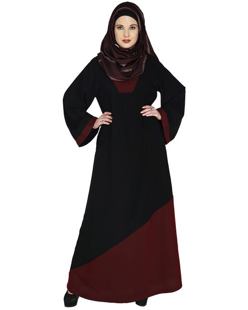 Casual Wine Highlighted Abaya