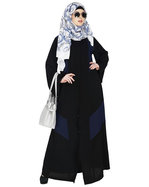 Modest Dark Blue Abaya