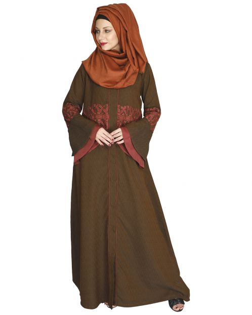 Jingle Bell Mustard Abaya
