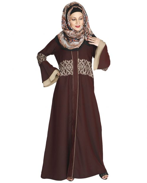 Jingle Bell Maroon Abaya