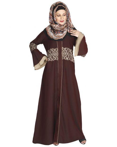 Jingle Bell Maroon Abaya