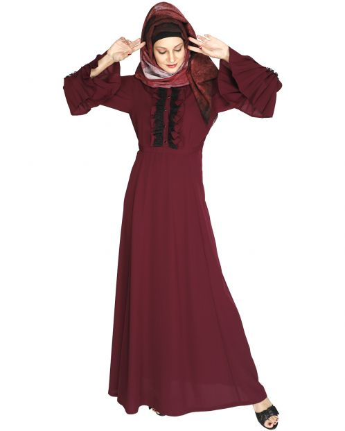 Fairy Frill Purple Abaya