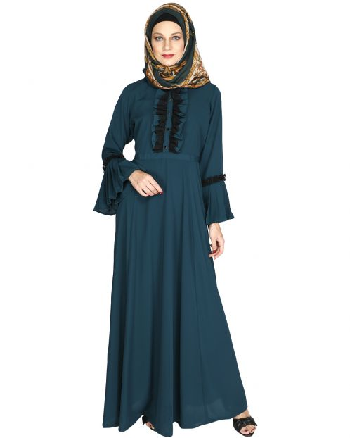 Frill Detailed Abaya