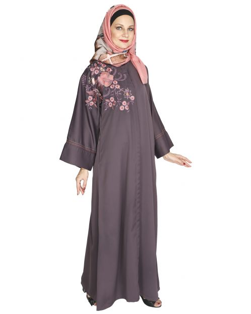 Daisy Drill Light Purple Abaya