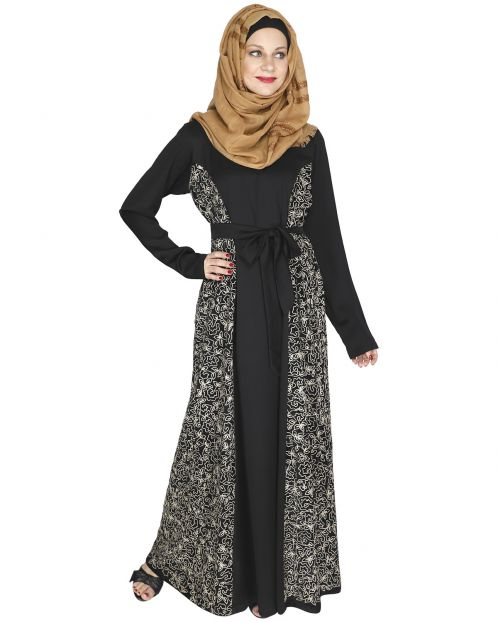 Opulent Black Velt Abaya