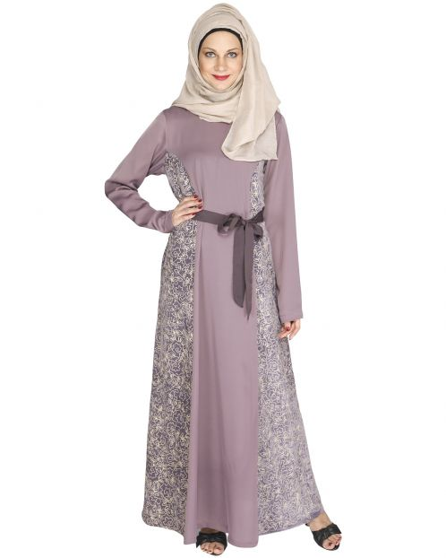 Opulent Purple velt Abaya