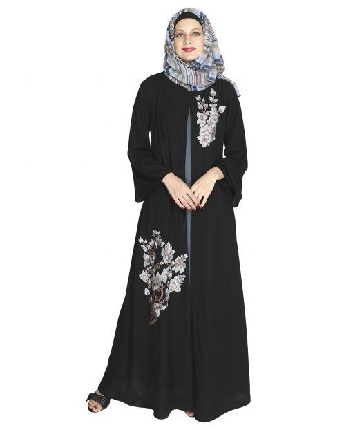 Beckon Black Jacket Style Abaya