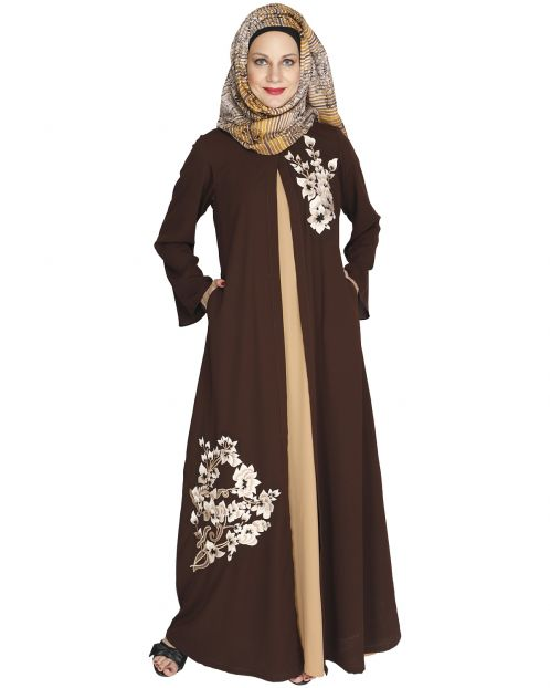 Beckon Brown Jacket Style Abaya