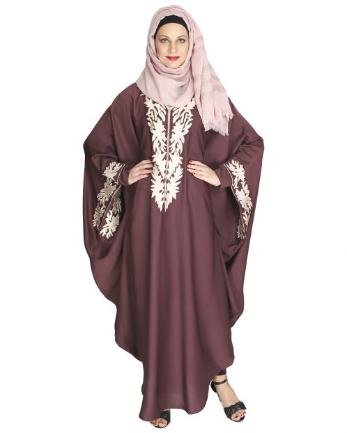 Aesthetically Elegent Dark Purple Kaftan