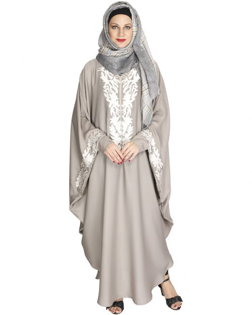 Aesthetically Elegent Light Grey Kaftan