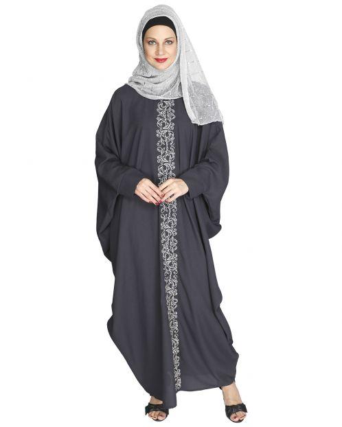 Flouncy Dark Grey Abaya