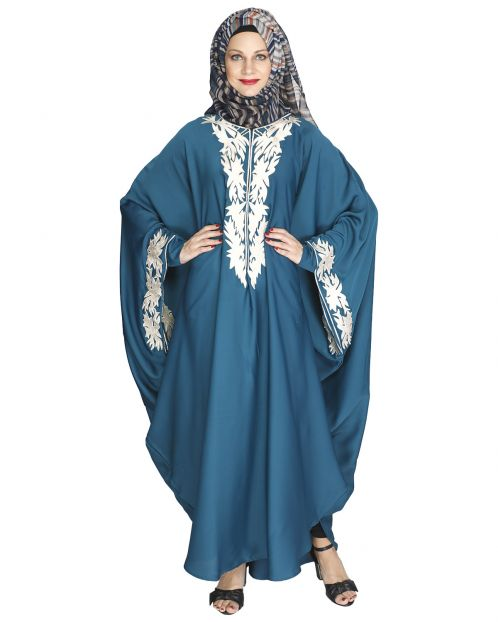 Aesthetically Elegent Teal Green Kaftan