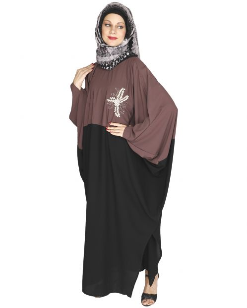 Pearl Embroidered Purple Kaftan