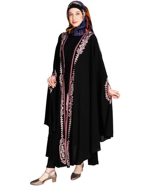 Jacket Style Black Kaftan