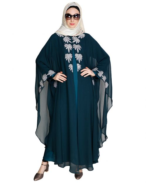 Sequence Enriched Green Kaftan