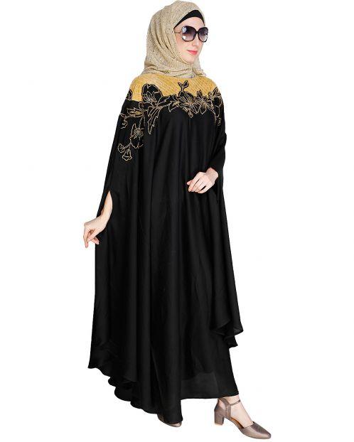 Opulent Black Kaftan