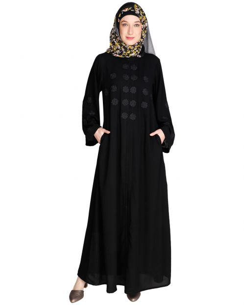 Flowless Black Abaya