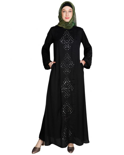 Prismatic Mirror Works Abaya