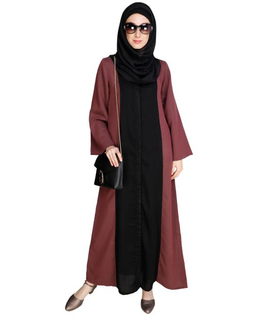 Panelled Onion Pink Abaya