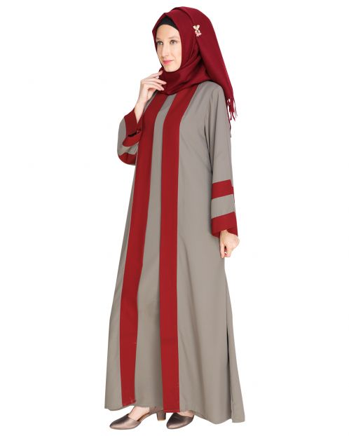 Contemporary Grey Abaya