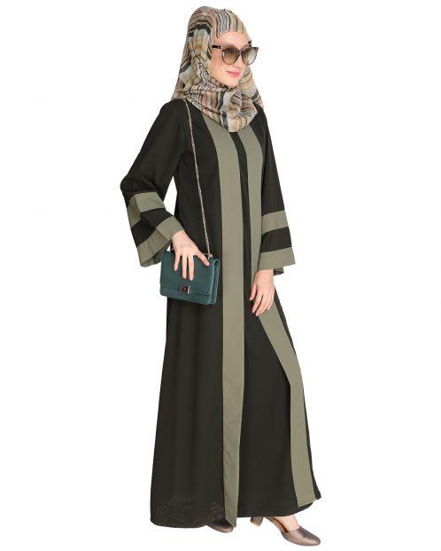 Contemporary Olive Abaya