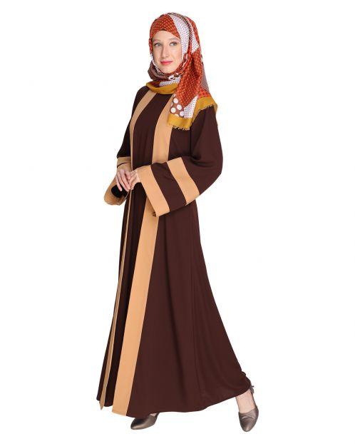 Contemporary Brown Abaya