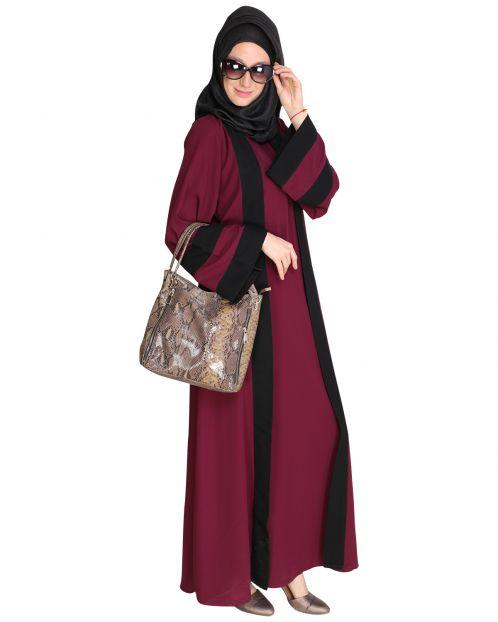 Contemporary Purple Abaya