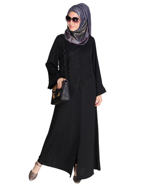 Modish Black Dubai Style Abaya