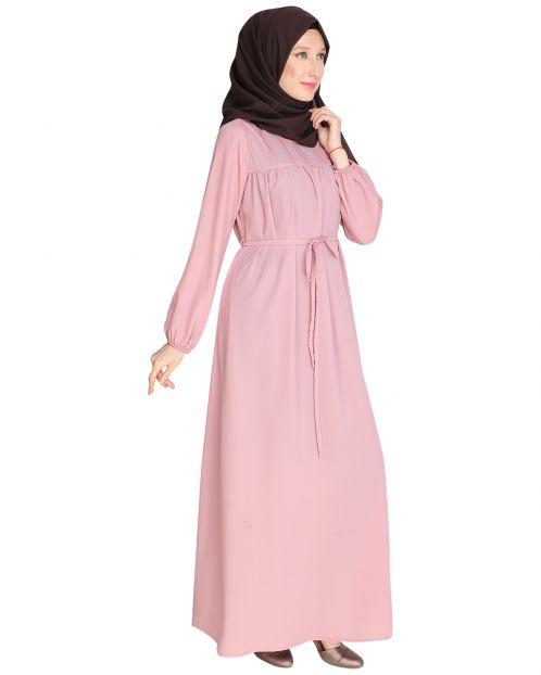 Blush Pink Symetric Maxi Dress