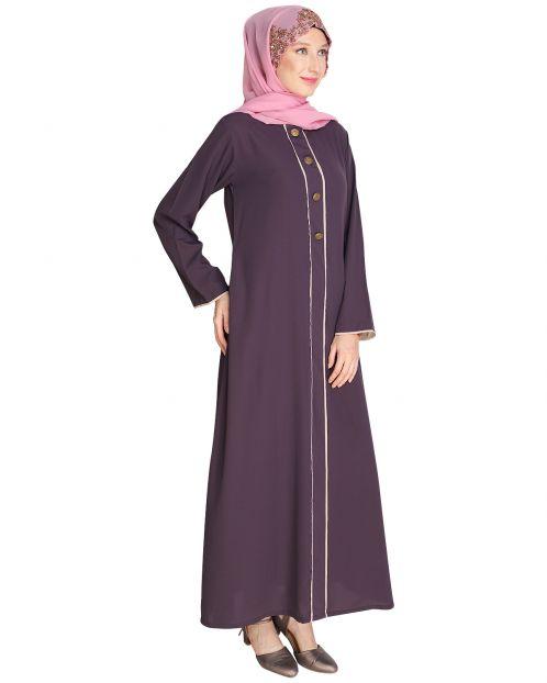 Sleek Purple Abaya