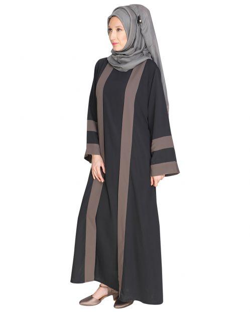 Contemporary Anchor Grey Abaya