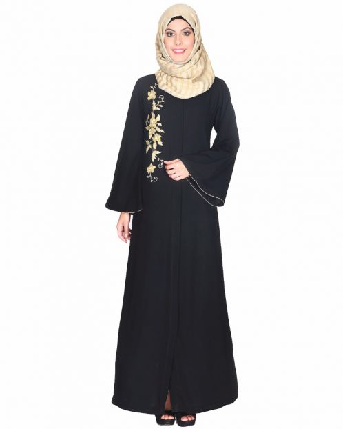 Beautiful Embroidered Black Abaya