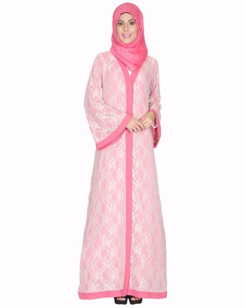 Double Layer Laced Abaya