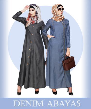 denim abaya